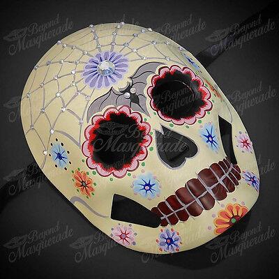 Womens Day of the Dead Skeleton Skull Halloween Masquerade Mask Small Bat