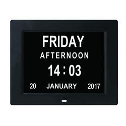 TMC [Newest Version] 8 Digital Calendar Day Clock - Extra Large Impaired Vision