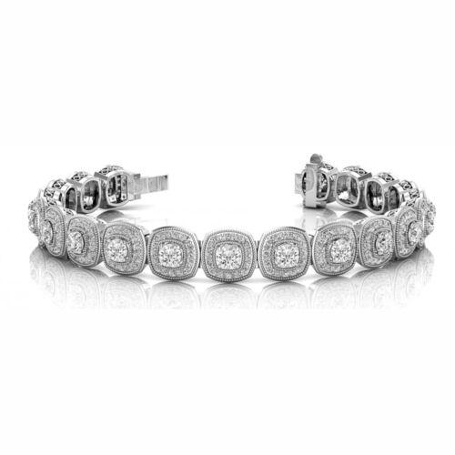 3.25 Carat Si1 White Round Diamond Bracelet New Fashion Style14k Wg For Women