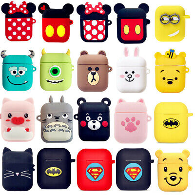 Kids Cute Cartoon Disney Silicone Earphone Protect Case For Apple Airpods Covers ()