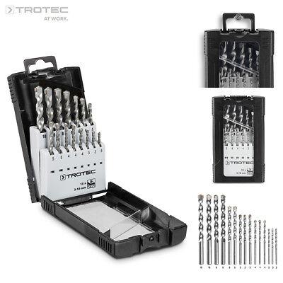 TROTEC Steinbohrer-Set (15-teilig) mit hoher Haltbarkeit (max. Härte 89 HRC) (15 Stein)