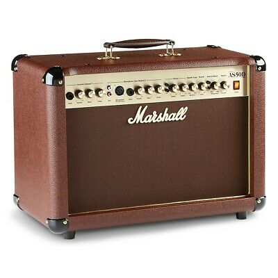 Marshall AS50D 50W 2x8 Acoustic Guitar Combo Amp LN