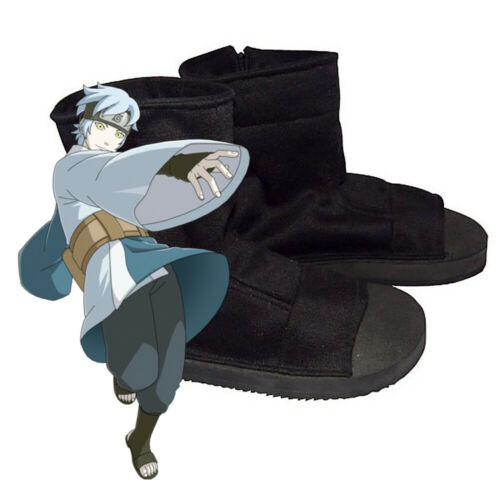 Naruto Uchiha Sasuke Ninja Shoes Halloween Cosplay Costume Size W (12) M (10)