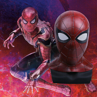 US! Avengers:Infinity War Spiderman Mask Iron Superhero Halloween Cosplay - Latex Spiderman Mask