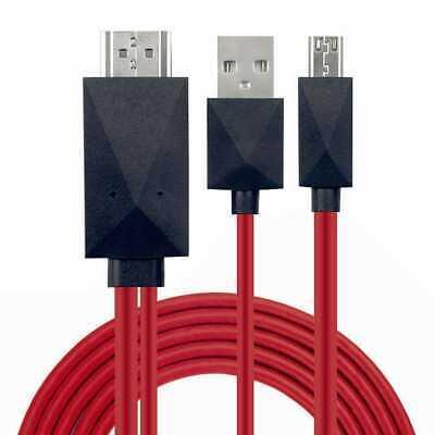 CABLE MHL MICRO USB A HDMI HDTV ADAPTADOR PARA SAMSUNG GALAXY S4...