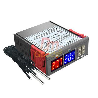 Stc-3008 110-220v Dual Display Digital Temperature Controller Thermostat Sensor