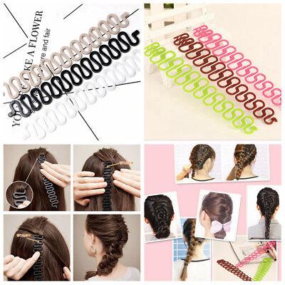 Women Hair Roller Twist Styling Clip Stick Bun Maker Braid Tool Hair Accessories