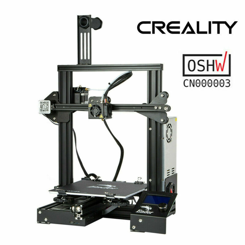 Used Creality Ender 3 3D Printer OSHW Certified 220X220X250mm DC 24V 15A Desktop