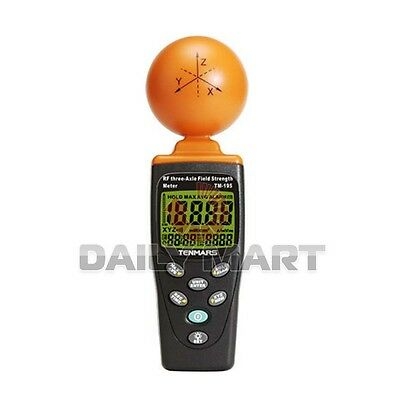 Tenmars Tm-195 3-axis Emf Rf Radiation Electrosmog Power Meter Tester 3.5ghz