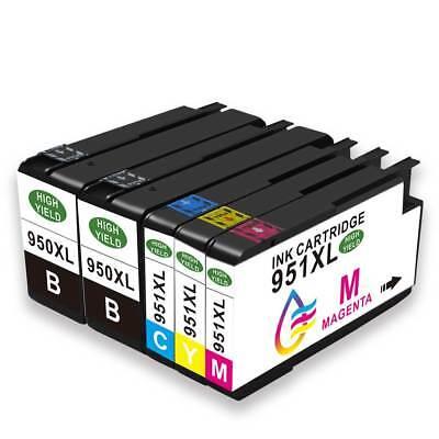 5x Drucker Patronen für HP 950 + 951 XL Officejet Pro 8610 8615 8620 8600 276dw