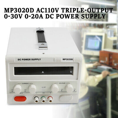 Dc Power Supply Adjustable 0-30v 0-20a Variable Lab Dc Bench Power Supply Usa