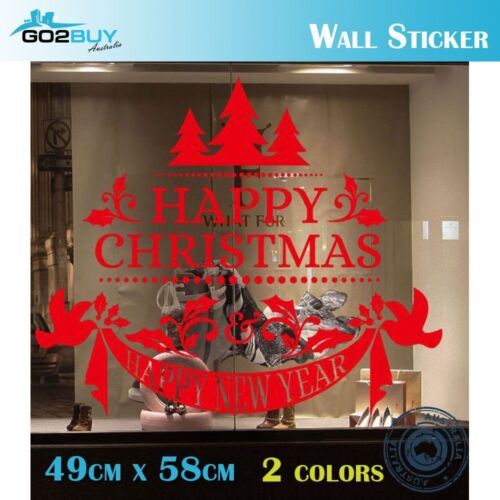 Home Decoration - Merry Christmas New Year Removable Wall Sticker Window Home Shop Party Decor