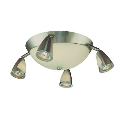 Hampton Bay 5-Light Brushed Steel Semi-Flush Mount Ceiling Track Lighting ()
