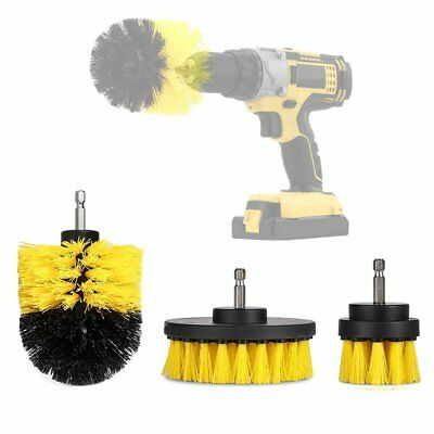 3Pcs/Set Grout Power Scrubber Cleaning Drill Brush for Car Carpet Tile Wall Tubs