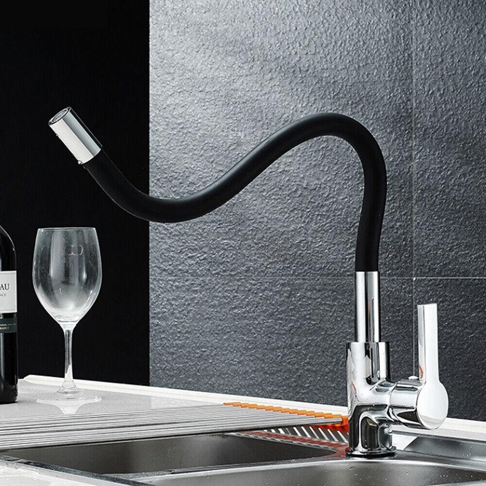 360 schwenkbar k chenarmatur einhebelarmatur k che armatur wasserhahn schwarz ebay. Black Bedroom Furniture Sets. Home Design Ideas
