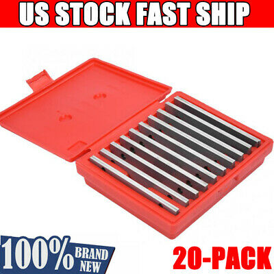 """20Pcs Hardened Parallels Tools Precision Parallel Set Machinist 1/2"""" to 1-5/8"""""""
