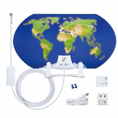 ANTOP 55 Miles  Indoor Omni-Directional Amplified HDTV Antenna 3D Pattern Design