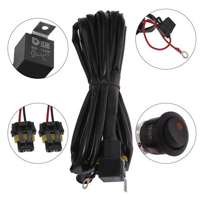 Fog Light Heavy Duty HID LED Wiring Harness 16 Gauge Kit w/ Switch+Fuse Bmw Fog Light Switch
