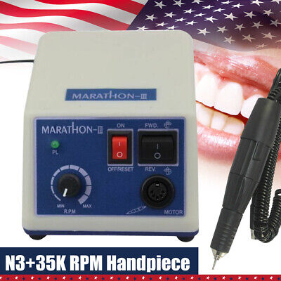 Dental Lab Marathon Electric Micromotor Polishing N335k Rpm Motor Handpiece