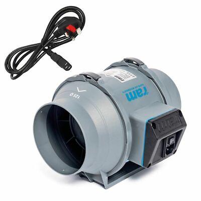 Hydroponics Ram Mixed Flow Inline Fan 125MM-284M³/HR Grow Room