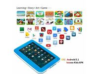 Blue Kids Tablet Android 7 Inch 1280x800 IPS Display with Parental Control Software