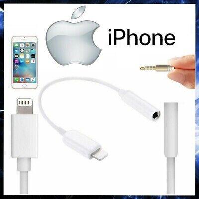 Cable Adaptador Auriculares Para Apple IPHONE 12/11 / X / 8/7/6/5 /...