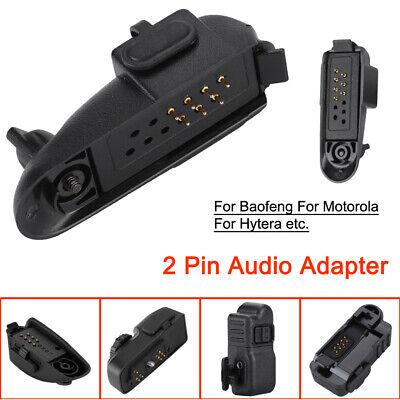 2Pin Audio Walkie Talkie Headset Adapter Connector for Baofeng Motorola Hytera