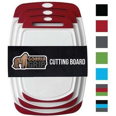 GORILLA GRIP Original Reversible Cutting Board , BPA Free, D