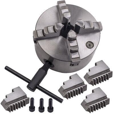 4 Jaw 5 Self-centering Lathe Chuck Milling K12-125 Hardened Steel 125mm