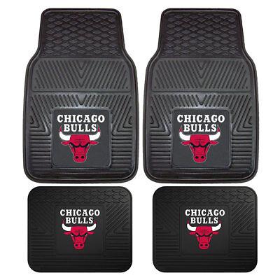 Fanmats Nba Mat - NBA Chicago Bulls Car Truck Front Rear Rubber Heavy duty All Weather Floor Mats