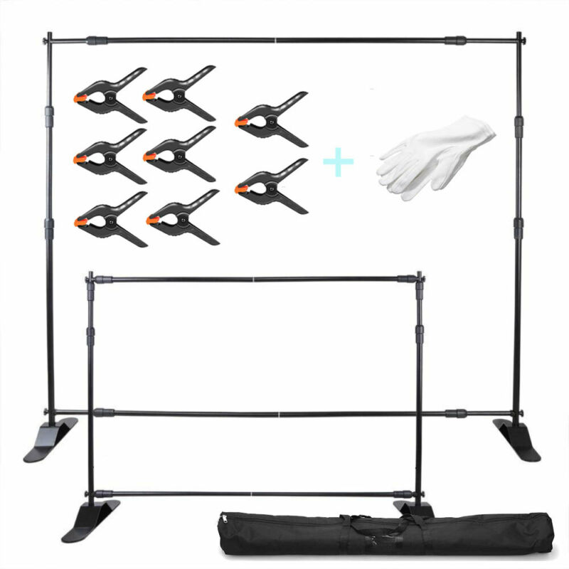 10Ft Photography Adjustable Background Banner Stand Backdrop Crossbar Expanding