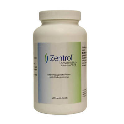 Zentrol Chewable Tablets for Stress Related Behavior in Dogs 60 Count - NEW!