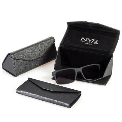 NYS Eyewear Collection Collapsable Tri-Fold Case Black (Nys Glasses)