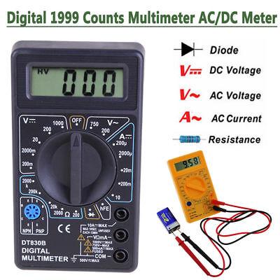 Digital Lcd Multimeter Acdc Voltmeter Ammeter Ohmmeter Resistance Volt Tester