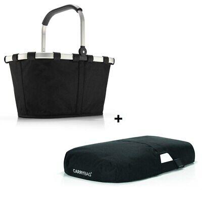 reisenthel Set carrybag BK7003 schwarz black Einkaufskorb und Cover black