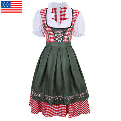 Oktober Fest Dress (Women Oktoberfest Dress German Bavarian Ethnic Trachten Beer Dirndl)