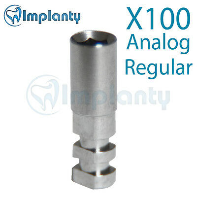 100x Implant Analog For Regular Platform Fit With Ab Alpha Bio Mis Zimmer Adin