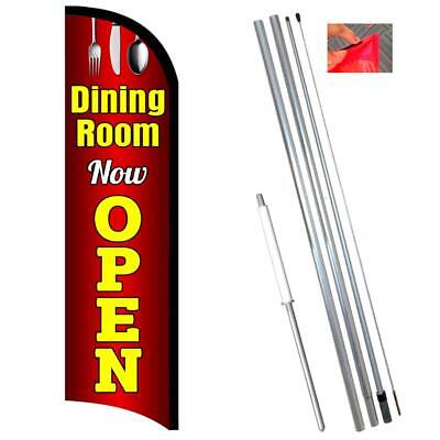 Dining Room Now Open Premium Windless-style Feather Flag Bundle 14 Or Replaceme