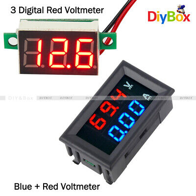 Digital Red Led Voltage Meter Dc100v 10a Bluered Dual Led Voltmeter Ammeter Amp