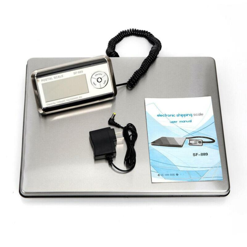 330lbs x 0.2lb LCD Digital Weighing Postal Shipping Scale Post Market Warehouse