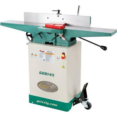 Grizzly G0814x 6 Jointer Wstand V-helical Cutterhead
