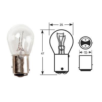 10x RW380 Bulb 12v 215w BAY15d Stop and Tail Bulbs