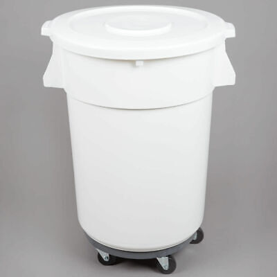 32 Gallon Trash Can Ingredient Bin Lid Dolly Commercial Kit Recycling Nsf