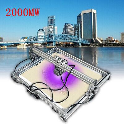 2000mw Diy Cnc Laser Engraving Cutting Machine Engraver Printer Desktop Cutter