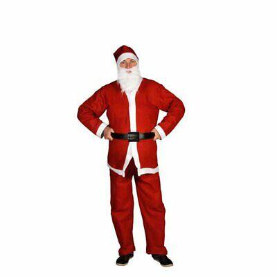 Costume Babbo Natale adulto uomo taglia unica vestito abito completo cappello