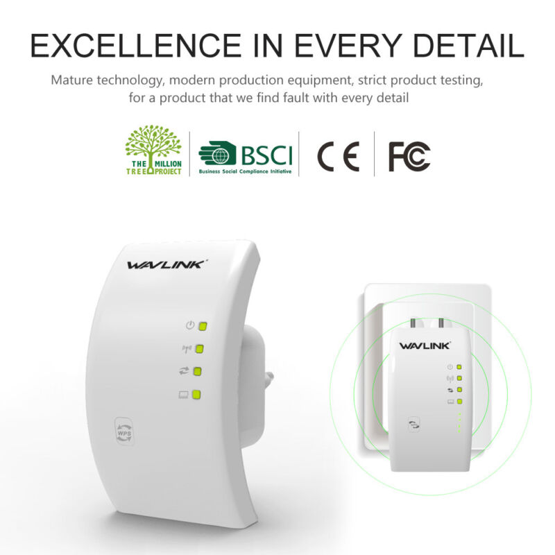 Wavlink Dual Band AC1200 WiFi Repeater,Wireless Range Extender/&Signal Booster