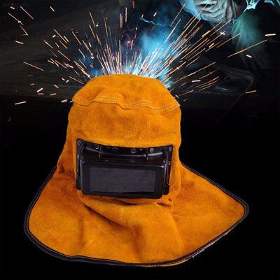 Solar Auto Darkening Filter Lens Welder Leather Hood Welding Helmet Safe Mask