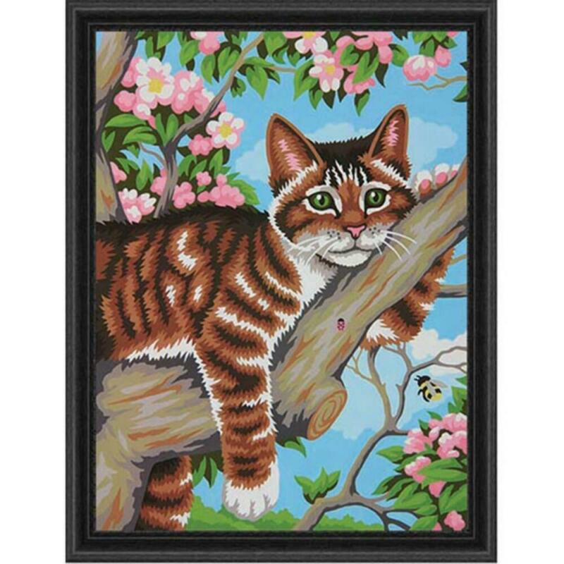 Paintworks® Lazy Cat Paint-by-Number Kit