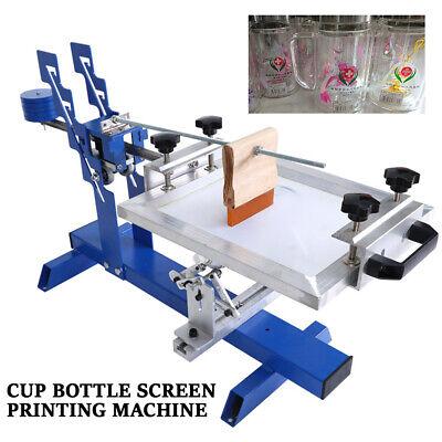 Manual Cylinder Silk Screen Printing 200mm Diameter Curved Screen Print Machine
