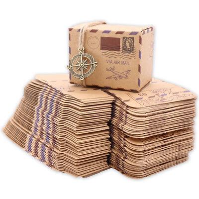 50pcs DIY Vintage Travel Candy Box Chocolate Packaging Gift Box Party - Diy Wedding Gift
